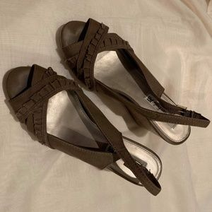 American Eagle Cloth Wedge Sandal